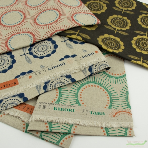 Chiemi Fujita for Cotton + Steel, Kibori, CANVAS, Tara Straw