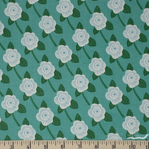 Chiemi Fujita for Cotton + Steel, Kibori, Chico Teal