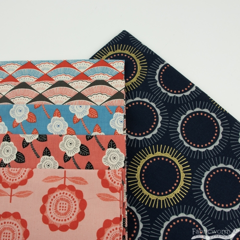 Chiemi Fujita for Cotton + Steel, Kibori, Ougi Red