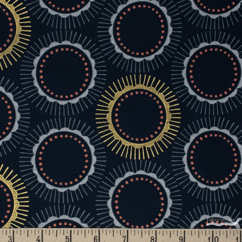 Chiemi Fujita for Cotton + Steel, Kibori, Tara Navy Metallic