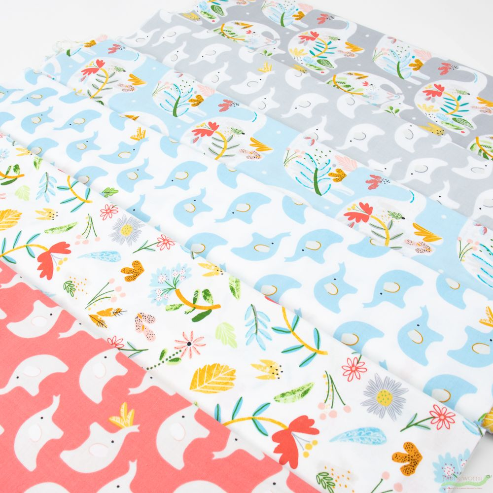 BUNDLE grey brown blue pink childrens COTTON FABRIC//MATERIAL quilting animals