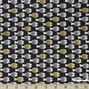 Christian Robinson for Cotton and Steel, Spectacle, Fish Friends Gold Metallic