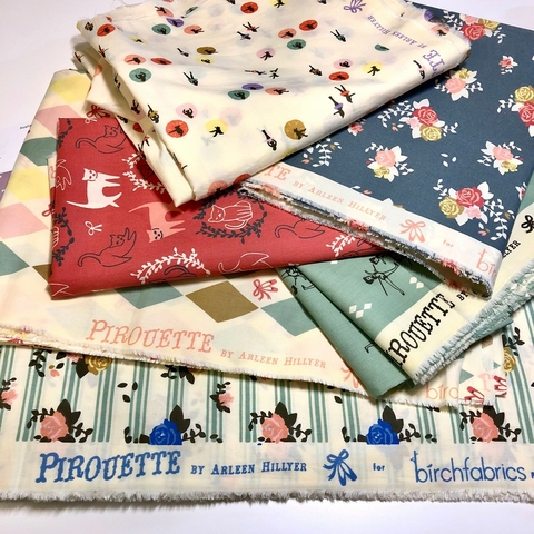 Classical Plie` Quilt Kit Featuring Pirouette by Arleen Hillyer For Birch Organic Fabrics