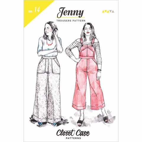Closet Case, Sewing Pattern, Jenny Overalls & Trousers