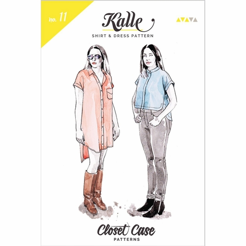 Closet Core, Sewing Pattern, Kalle Shirt & Dress