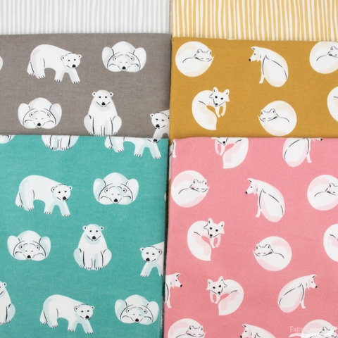 Cloud9 Organic Fabrics, Northerly Flannel, Winter Fox Pink