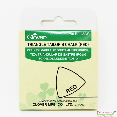 Clover, Triangle Tailor's Chalk, Red