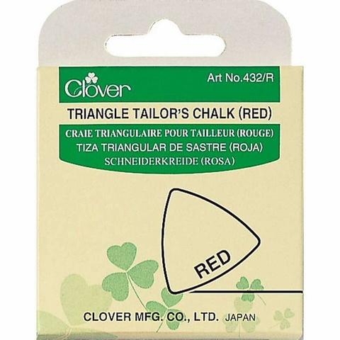 Clover, Triangle Tailor's Chalk Red