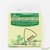 Clover, Triangle Tailor's Chalk, White