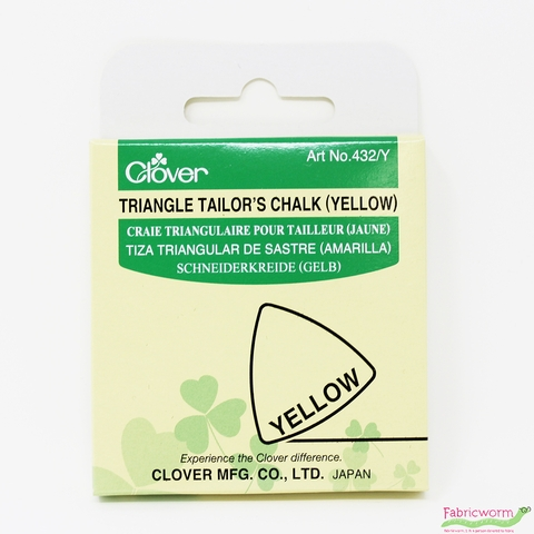 Clover, Triangle Tailor's Chalk, Yellow