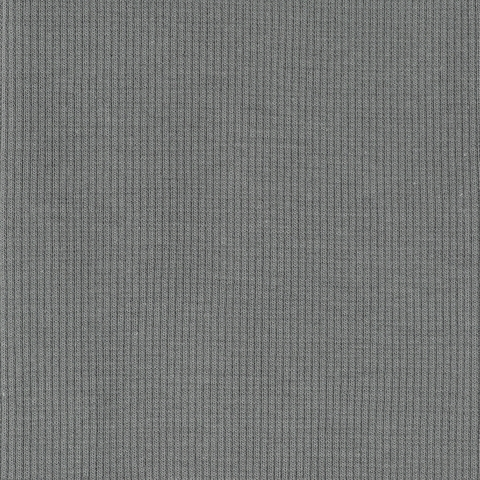 Birch Organic Fabrics, RIBBED KNIT, Gray