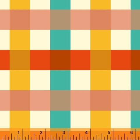 COMING SOON, Heather Ross for Windham, Malibu Canvas, Big Gingham Ocean