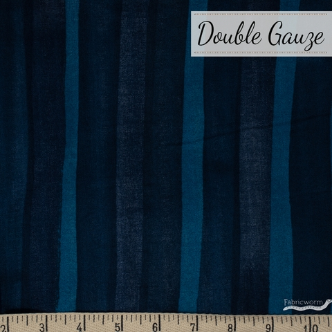 Nani Iro, DOUBLE GAUZE, Grace Navy