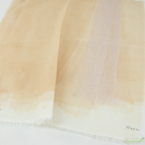 Nani Iro, SINGLE GAUZE, Drawing Colors Beige Metallic