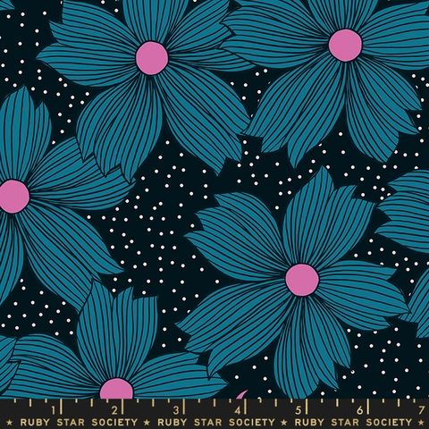COMING SOON, Sarah Watts for Ruby Star Society, Crescent, Night Bloom Teal