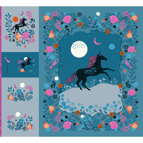"Sarah Watts for Ruby Star Society, Crescent, Unicorn Dig PRE-CUT (99"" x 108"" Panel)"