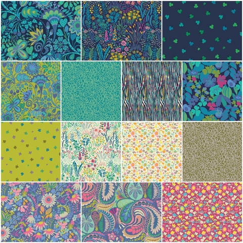 Sally Kelly for Windham, Solstice Precut Fat Quarter Collection Bundle 28 Total