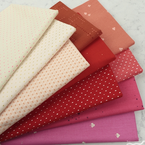 Cotton and Steel, Basics, Strawberry Sorbet in FAT QUARTERS 10 Total