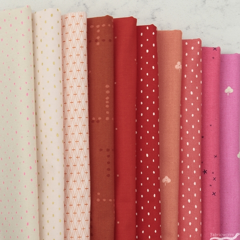Cotton and Steel, Basics, Strawberry Sorbet in HALF YARDS 10 Total
