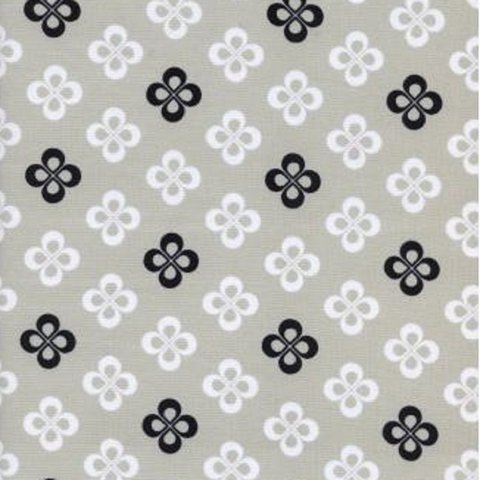 Cotton and Steel, Black & White, Clover Grey