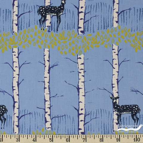 Cotton and Steel, Frost, Fawn Forest Blue
