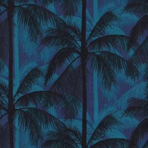 Cotton and Steel, Poolside, Palms Blue