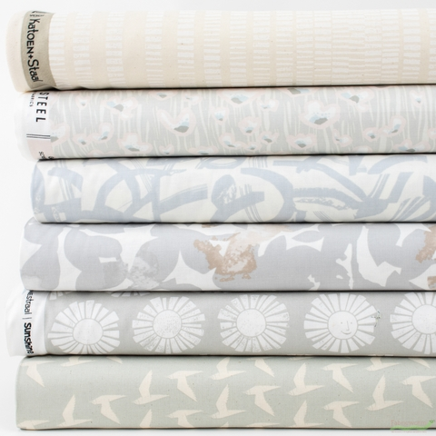 Cotton + Steel Collaborative, Cold Press, Scenery in FAT QUARTERS 6 Total