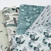 Cotton + Steel Collaborative, Crystal Clear, Think Positive Teal