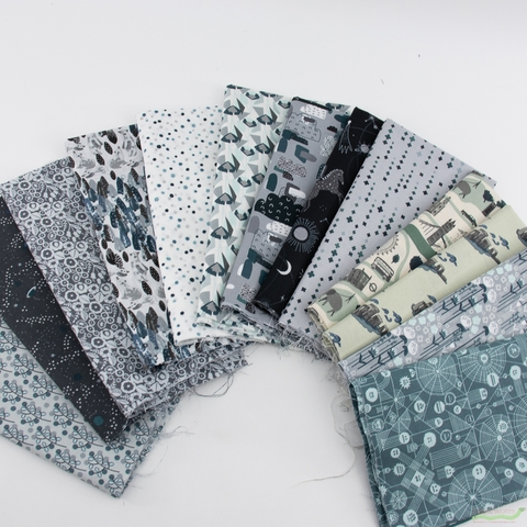 Cotton + Steel Collaborative, Crystal Clear, Web Attack Slate