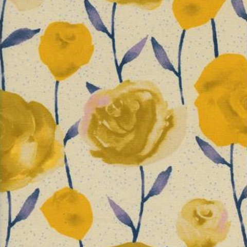 Cotton + Steel Collaborative, Firelight, Roses Yellow