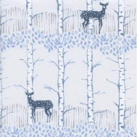 Cotton + Steel Collaborative, Frost, Fawn Forest Neutral