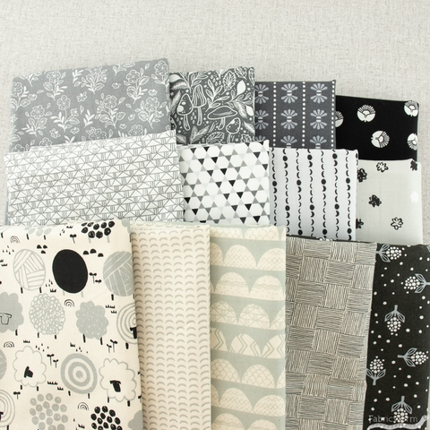 Cotton + Steel Collaborative, Full Moon, Floral Cluster Day's End