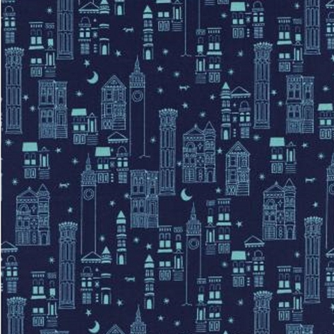 Cotton + Steel Collaborative, Lawnquilt Lawn, Metropolis Navy