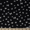 Cotton + Steel Collaborative, Newsprint, Flying Ribbon Black