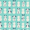 Cotton + Steel Collaborative, Noel, Snow Babies Mint