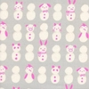 Cotton + Steel Collaborative, Noel, Snow Babies Neon Pink
