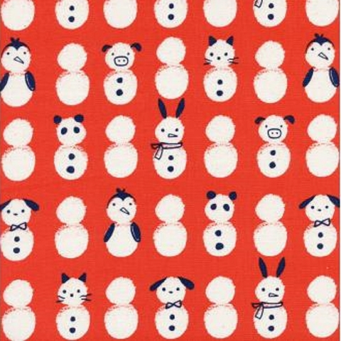 Cotton + Steel Collaborative, Noel, Snow Babies Red