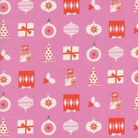 Cotton + Steel Collaborative, Noel, Wrapped Up Pink