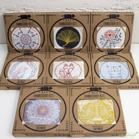 Cozyblue Handmade, Embroidery Kit, Autumn Mandala