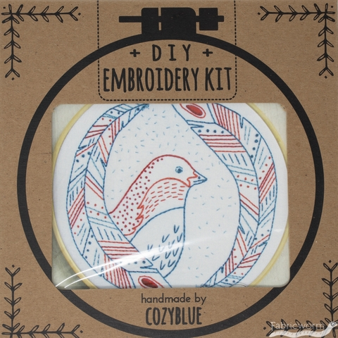 Cozyblue Handmade, Embroidery Kit, Bird Of A Feather