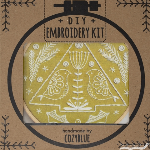 Cozyblue Handmade, Embroidery Kit, Folk Holiday