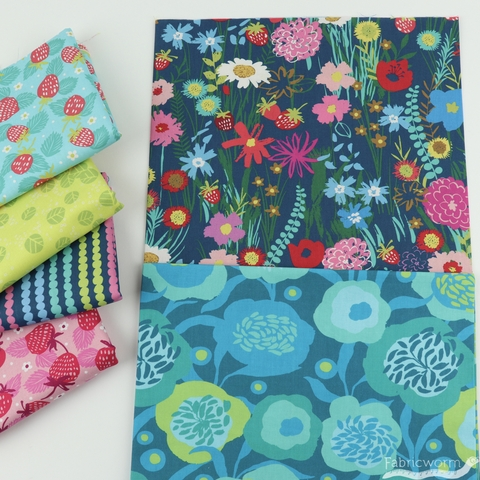Crystal Manning for Moda, Growing Beautiful in FAT QUARTERS 6 Total