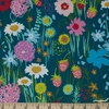 Crystal Manning for Moda, Growing Beautiful, RAYON, Wildflowers Teal