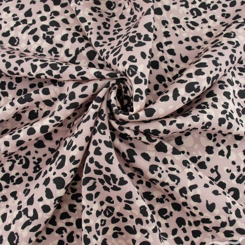 Crystal Manning for Moda, Kasada Rayon, Animal Print Lavender
