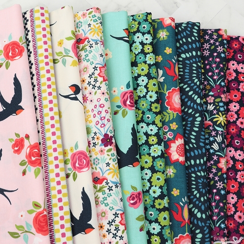 Crystal Manning for Moda, Rosa in FAT QUARTERS 10 Total (PRECUT)