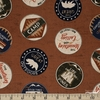 Dan DiPaolo for Clothworks, Adventure Awaits, Wilderness Badges Brown