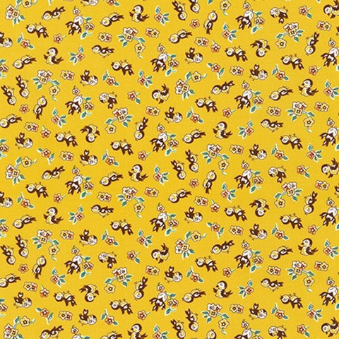 Darlene Zimmerman for Robert Kaufman, Naptime 4, Bird Nanny Yellow
