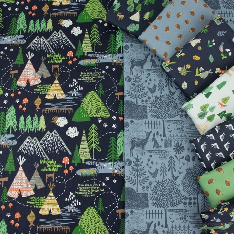 Dear Stella, May The Forest Be With You in FAT QUARTERS 9 Total