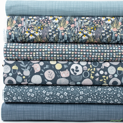Dear Stella, Wildlings, Dusk in FAT QUARTERS 6 Total