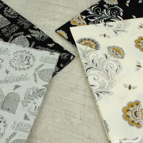 Deb Strain for Moda, Bee Joyful in FAT QUARTERS 10 Total